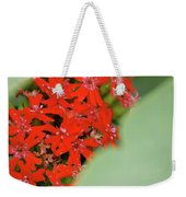 Red Butterfly Buds By Jammer Weekender Tote Bag