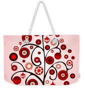 Red Ornaments Weekender Tote Bag