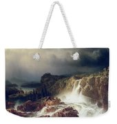 Rocky Landscape With Waterfall In Smaland Weekender Tote Bag by Marcus Larson
