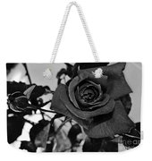 Rose In Black And White Weekender Tote Bag