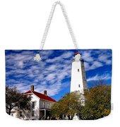 Sandy Hook Light Weekender Tote Bag