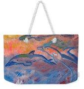 Soaring Dolphins Weekender Tote Bag