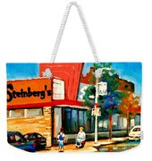 Steinbergs Grocery Store Paintings Vintage Montreal Art Order Prints Originals Commissions Cspandau Weekender Tote Bag