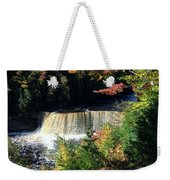 Tahquamenon Falls In Autumn Weekender Tote Bag