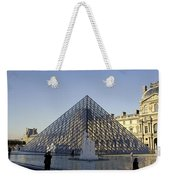 The Glass Pyramid Of The Musee Du Louvre In Paris France Weekender Tote Bag