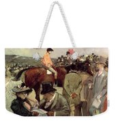 The Horse Race Weekender Tote Bag by Jean Louis Forain