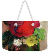 The Red Poppy Weekender Tote Bag by Odilon Redon