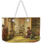 The Stray Shuttlecock Weekender Tote Bag by Frank Dillon