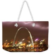 Thunderstorm Over The Arch Weekender Tote Bag