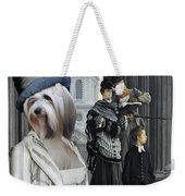 Tibetan Terrier Art Canvas Print Weekender Tote Bag