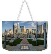 View Of Charlotte Skyline Weekender Tote Bag