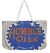 Vintage Humble Oils Sign Jefferson Texas Weekender Tote Bag
