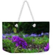 Violet Flower Weekender Tote Bag