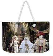 Volpino Italiano Art Canvas Print Weekender Tote Bag