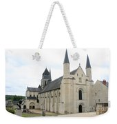 West Facade Of The Church - Fontevraud Abbey Weekender Tote Bag