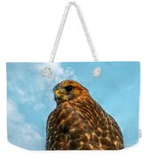 What Are You Looking At Red Shoulder Hawk Weekender Tote Bag