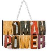 Woman Power Weekender Tote Bag