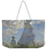 Woman With A Parasol Madame Monet And Her Son Weekender Tote Bag by Claude Monet