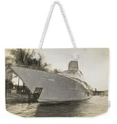 Yacht On The Water Weekender Tote Bag