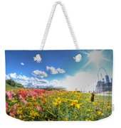 001 Niagara Falls Misty Blue Series Weekender Tote Bag