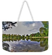 001 Reflecting At Forest Lawn Weekender Tote Bag