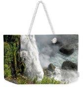 0010 Niagara Falls Misty Blue Series Weekender Tote Bag