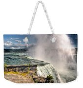 0011 Niagara Falls Misty Blue Series Weekender Tote Bag