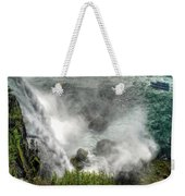 0012 Niagara Falls Misty Blue Series Weekender Tote Bag