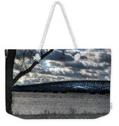 0013 Grand Island Bridge Series Weekender Tote Bag