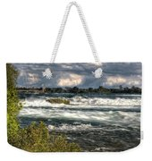 0015 Niagara Falls Misty Blue Series Weekender Tote Bag