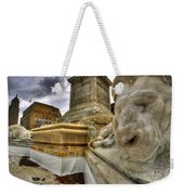 0016 Lions At The Square Weekender Tote Bag