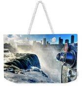 0016 Niagara Falls Winter Wonderland Series Weekender Tote Bag