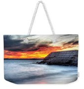 0018 Awe In One Sunset Series At Erie Basin Marina Weekender Tote Bag