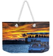 0019 Awe In One Sunset Series At Erie Basin Marina Weekender Tote Bag