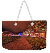 002 Christmas Light Show At Roswell Series Weekender Tote Bag