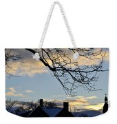 002 Cotton Candy Skies With A Lil Snow  Weekender Tote Bag