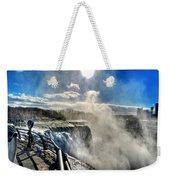002 Niagara Falls Winter Wonderland Series Weekender Tote Bag