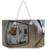 0035 Throwback Shopping Center Of Am And As Weekender Tote Bag