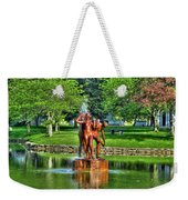 005 Reflecting At Forest Lawn Weekender Tote Bag