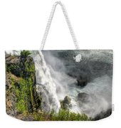 008 Niagara Falls Misty Blue Series Weekender Tote Bag