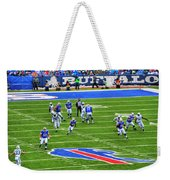 009 Buffalo Bills Vs Jets 30dec12 Weekender Tote Bag