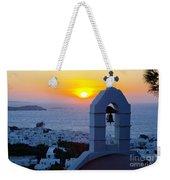 0209 Mykonos Sunset Weekender Tote Bag