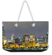 0247 Chicago Skyline Panoramic Weekender Tote Bag
