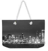 0248 Chicago Skyline Panoramic Weekender Tote Bag