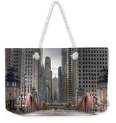 0295 Lasalle Street Chicago Weekender Tote Bag