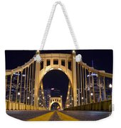 0304 Roberto Clemente Bridge Pittsburgh Weekender Tote Bag by Steve Sturgill