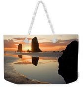 0385 Cannon Beach Reflection Weekender Tote Bag