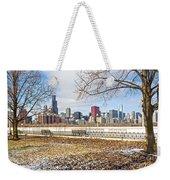 0452 Chicago Skyline Weekender Tote Bag