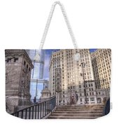 0499 Trump Tower And Wrigley Building Chicago Weekender Tote Bag