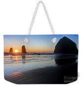 0519 Cannon Beach Sunset 3 Weekender Tote Bag